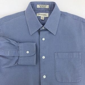 John W Nordstrom Blue Italian Cotton Dress Shirt
